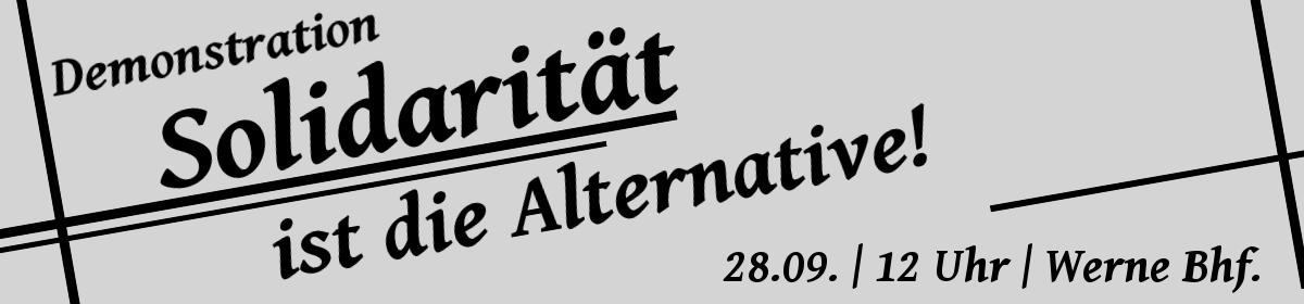 Demo Werne 28.09. | Solidarität ist die Alternative!